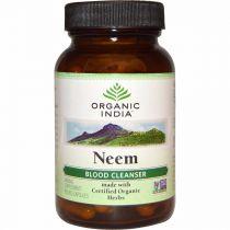 Neem 60 Capsules Bottle organic india 10% discount