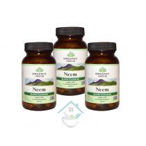 Neem 60 Capsules Bottle organic india 20% discount pack 0f 3