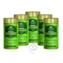 Tulsi Green Tea 100gm tin oragnic india 10% discount pack of 5