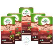 Tulsi Masala Chai- 25 Tea Bags organic india10% discount pack of 5